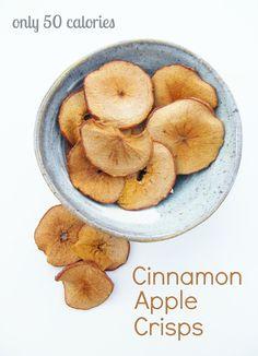 5:2 Diet - Cinnamon Apple Crisps = 50 calories #thefastdiet #5/2diet #5:2diet #vegan