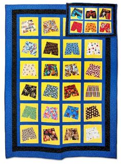 203: Boxer Shorts Memory Quilt by Betty Belford