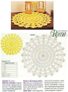 Luty Artes Crochet: tapetes de crochê crochet chart pattern // for felted rug, Would be a sweet Mandala rug, pinned for diagramLair knitting and crochet 3 motives of crochet tablecloth Doily pattern (no photo of finished doily) Discover thousands of Filet Crochet, Col Crochet, Crochet Doily Rug, Crochet Placemats, Crochet Doily Diagram, Crochet Patron, Crochet Carpet, Crochet Dollies, Crochet Mandala Pattern