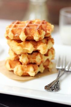 Liege Waffles. Not a fan of american-style waffles but I love the Belgian Style Waffles!