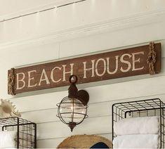 Large Beach House Sign