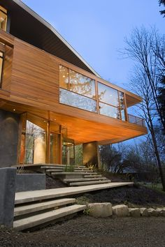 "Beautiful home inside and out>> Hoke Residence, photo via Skylab Architecture. ""After two days on the market, the house was purchased by the director of footwear design at Nike, John Hoke. Following a cover story in a northwest architecture publication, The Hoke's were approached by a film location scout, a little film called Twilight."" -architect Jeff Kovel, as told to the Design Tavern blog"