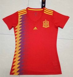 de9b0f6129 2018 World Cup Spain Home Red Female Thailand Soccer Jersey
