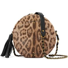 Jérôme Dreyfuss Remi leopard-print calf hair and leather shoulder bag ($770) ❤ liked on Polyvore featuring bags, handbags, shoulder bags, leopard print, crossbody shoulder bag, brown leather shoulder bag, leather crossbody, brown crossbody purse and woven-leather handbags