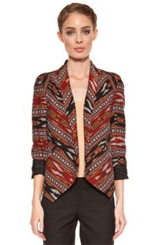 Twelfth Street by Cynthia Vincent Shawl Collar Blazer in Ikat
