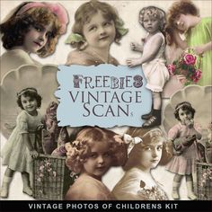 Far Far Hill - Free database of digital illustrations and papers: Freebies Vintage Photos of Children Kit