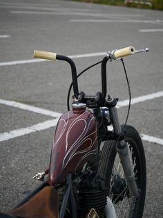 simple bars Bobber #motorcycles #bobber #motos   caferacerpasion.com