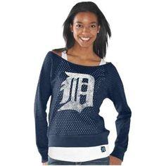 Touch by Alyssa Milano Detroit Tigers Ladies Holy Sweatshirt & Tank Set – Navy Blue