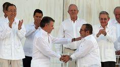 Historische Zeremonie in Cartagena: Kolumbien und Farc unterzeichnen Friedensvertrag