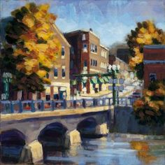 Painting of my hometown by hometown artist Philip Frey