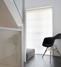 Halls can feel dark and gloomy, so choose a semi-sheer Pleated blind to infuse your space with a warm glow Your Space, Blinds, Glow, It Is Finished, Window, House Design, Curtains, Warm, Nice