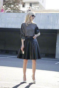 full leather skirt