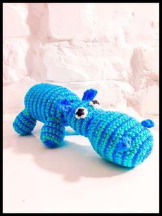 Crochet hippopotamus - hæklet flodhest #obber