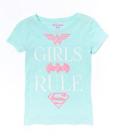 Mint DC 'Girls Rule' Tee - Girls #zulily #zulilyfinds