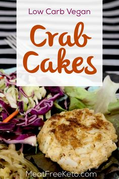 Low Carb Vegan Crab Cakes Meat Free Keto These gluten free low carb easy to make vegan crab cakes are the perfect addition to any summer cookout Vegan Crab, Vegan Keto Diet, Vegan Keto Recipes, Ketogenic Recipes, Vegan Vegetarian, Diet Recipes, Vegan Fish, Tilapia Recipes, Party Recipes