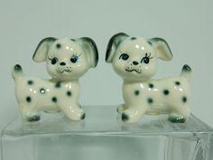 Dalmatian Puppy Salt Pepper Shakers Black White