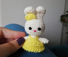 Amigurumi Puppy Rabbit Making Amigurumi Patterns, Crochet Patterns, Fried Rabbit, Softies, Minis, Birthday Gifts, Applique, Bunny, Crochet Hats