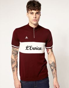 Le Coq Sportif L'Eroica Cycling Jersey Top Cycling News, Bike Wear, Cycle Chic, Cycling Outfit, Cycling Clothing, Style Outfits, Cycling Jerseys, Sport Casual, Apparel Design