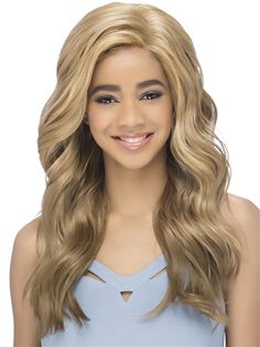 Avril Wig by Vivica Fox: Fun layered jumbo waves is made for any day to night look. Synthetic Lace Front Wigs, Synthetic Hair, Vivica Fox, Styling Brush, Color Ring, Night Looks, Hair Pieces, Hair Extensions, Hair Care