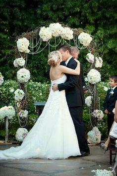 Rustic Outdoor Wedding Decorations | Grapevine Arch | ... | Weddings