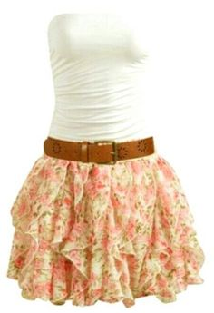 Cute Dress with Ruffled Mini Skirt