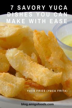 Yuca is simply delicious and can be used in a variety of dishes. We reveal seven of our favorite savory dishes you can make with Yuca. Cuban Dishes, Spanish Dishes, Boricua Recipes, Cuban Recipes, Yucca Recipe, Yucca Root Recipes, Panamanian Food, Caribbean Recipes, Carribean Food