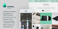 Hip - Creative OnePage / MultiPage Wordpress Theme by artless Description Hip is a creative, flat and modern designed parallax OnePage / MultiPage Wordpress Theme,based on a responsive 12 colu