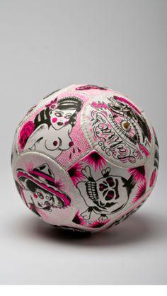 Soccer=Love Pink Football, Football Art, Soccer Art, Christmas Bulbs, Holiday Decor, Inspiration, Landscape, Beautiful, Game