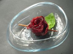 How to make a Rose out of Deep Fried Beet Chips! So cool! #Food #Garnish #Flower