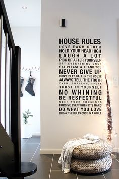 house rules / tonje boganes