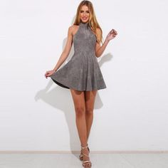 Off The Shoulder Backless Sleeveless Pleated Mini Party Dress