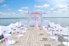 Арка свадебная нашего производства в декорировании выездной регистрации на берегу озера. #арка #свадебная #украшениесвадьбы #оформлениесвадьбы #выездная #регистрация #аркасвадебная #свадебный #декор