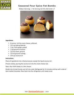 Seasonal Four Spice Fat Bomb Recipe