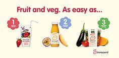 innocent - little tasty drinks Innocent Drinks, Fruit And Veg, Tasty, Press Ad, Bottle, Fruits And Veggies, Flask, Jars