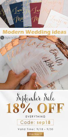 modern wedding invitation ideas for your wedding #wedding#weddinginvitations#stylishwedd#stylishweddinvitations #vellumweddinginvitations