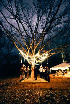 night-time wedding