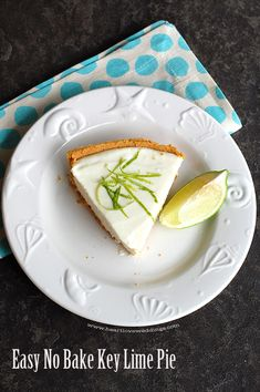 """Easy, no-egg, no-bake, key lime pie recipe. It's refreshing, it's note-worthy, it's even been called """"heaven on a plate"""" delicious!! A summer dessert favorite!!"""