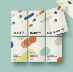 New Logo and Identity for Habito by MultiAdaptor Layout Design, Web Design, Print Design, Logo Design, Logo And Identity, Identity Design, Name Card Design, Bussiness Card, Buch Design