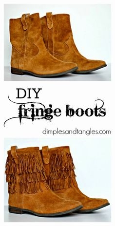 DIY FRINGE BOOTS Oh no they did not take your idea!!!!