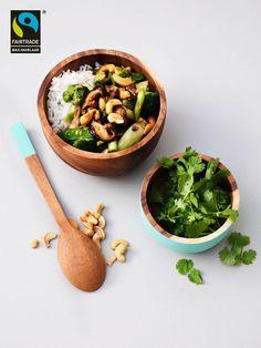 'groene' roerbak met shiitake en cashewnoten