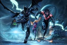 Batman, Nightwing and Robin! Superman, I Am Batman, Batman Robin, Batman Tmnt, Nightwing, Batgirl, Batman Universe, Dc Universe, Dc Comics Art