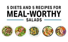 5 Diets and 5 Recipes For Meal-Worthy Salads   Nutrition   MyFitnessPal Vegan Snacks, Healthy Snacks, Healthy Eating, Healthy Recipes, Clean Eating, 5 Recipe, Keto, Vegan Meal Prep, Diet And Nutrition