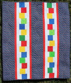Quilt Fabrication - Wouldn't this make a cute border for a child's quilt.