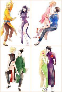Os casais mais admirados do anime Naruto