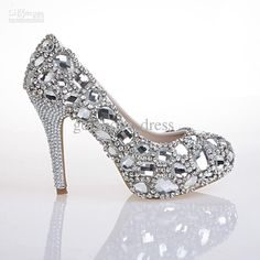 Wholesale Hand Design Top White Diamond Crystal Shoes High Diamond Shoes For Women's Shoes High-Heeled Shoes, Free shipping, $112.0-168.0/Piece | DHgate