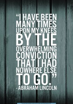 Upon Our Knees.....