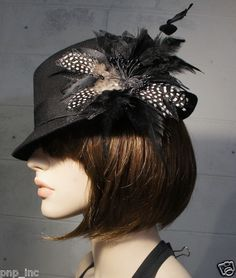 Sexy Hat Pin Feathered Barrette Broach Lolita Hair Clip Fascinator Vintage