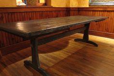 Classic Rustic Dining Table to Bring Natural Look in Your Dining Space : Rustic Dining Table Brown Teak Wood Material Design