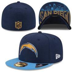 Men's San Diego Chargers New Era Navy/Powder Blue 2-Tone Cuffed Knit Hat