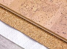 laying technology of cork floor on concrete base with layers of thermal insulation and soundproofing Cork Flooring, Best Flooring, Types Of Flooring, Flooring Options, Wooden Flooring, Kitchen Flooring, Kitchen Tiles, Installing Hardwood Floors, Cork Tiles